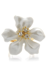 KENNETH JAY LANE Pearl Flower Ring