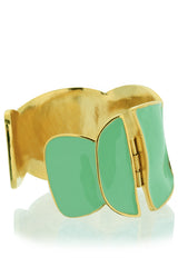 KENNETH JAY LANE QUINN Mint Enamel Cuff