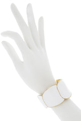 KENNETH JAY LANE White Enamel Cuff