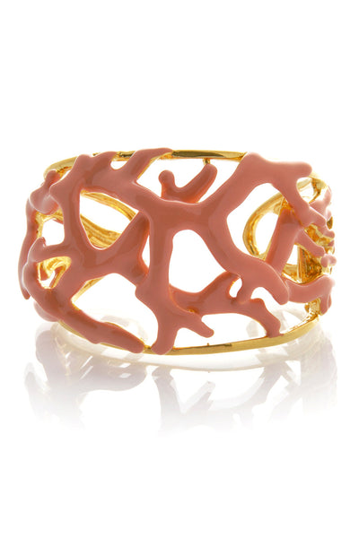 KENNETH JAY LANE REEF Light Coral Cuff
