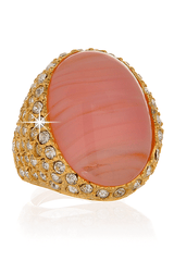 KENNETH JAY LANE ROSE Center Crystal Ring