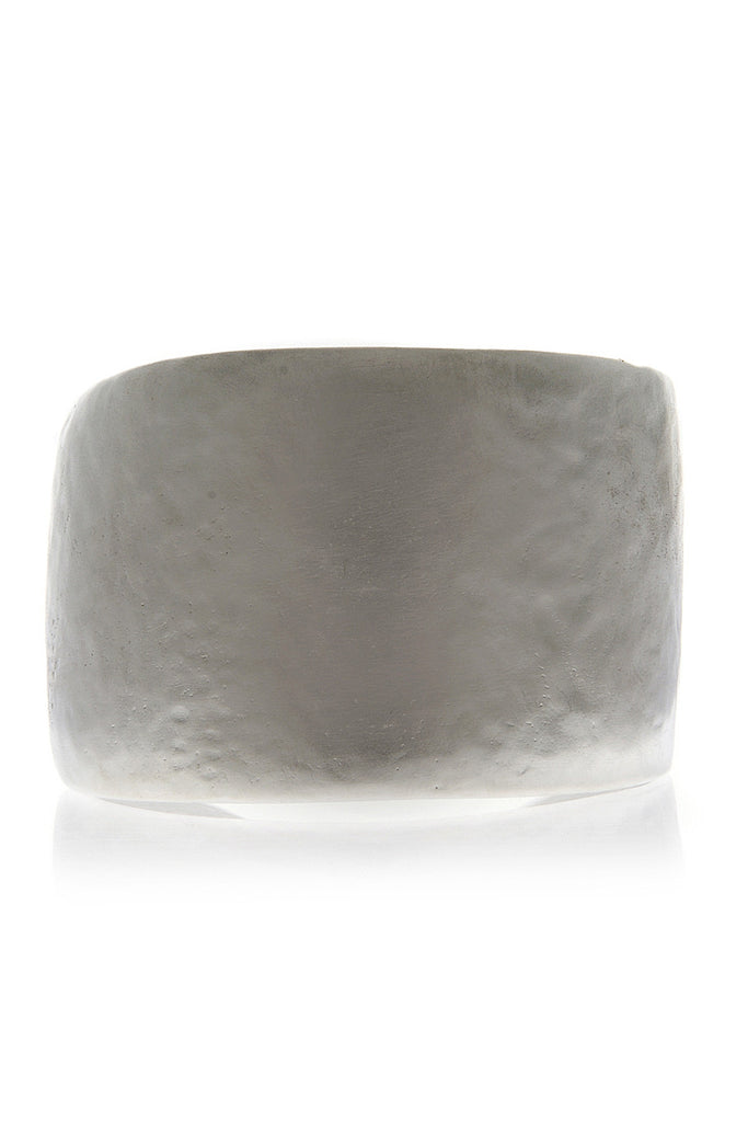 KENNETH JAY LANE SALIN Silver Satin Hammered Cuff