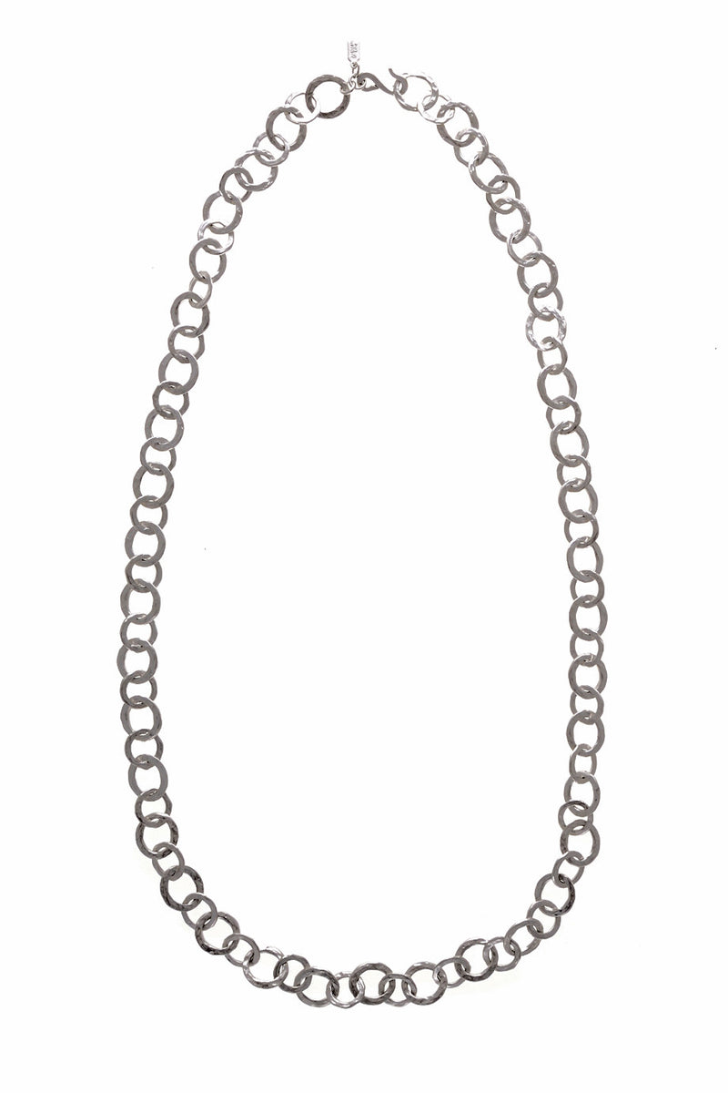 KENNETH JAY LANE SATIN Silver Ring Necklace