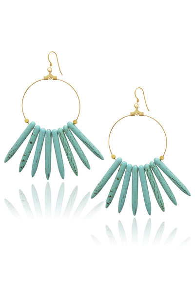 KENNETH JAY LANE STICK Turquoise Earrings