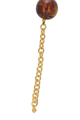KENNETH JAY LANE TORTOISE Gold Beads Necklace