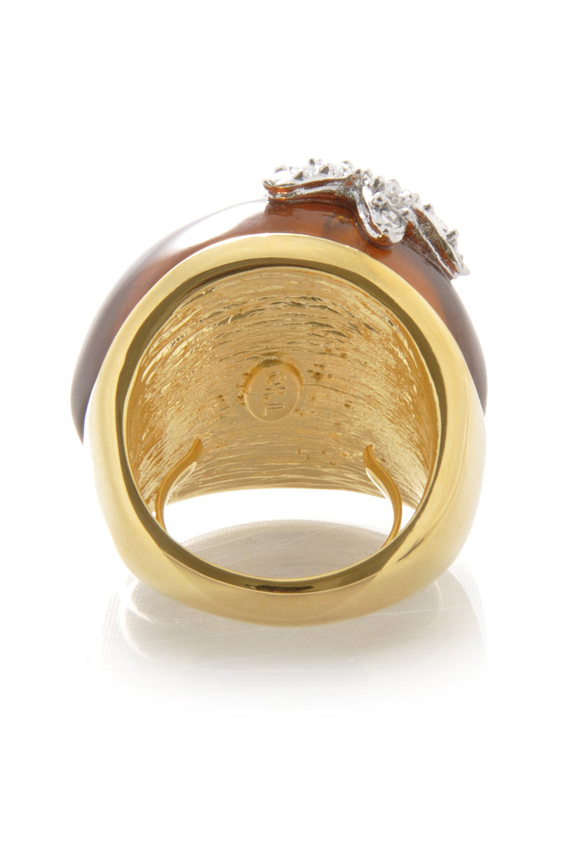 KENNETH JAY LANE TORTOISE Starfish Ring
