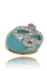 KENNETH JAY LANE TURQUOISE Crystal Snake Ring