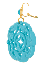 KENNETH JAY LANE Turquoise Carved Earrings