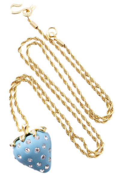 KENNETH JAY LANE Turquoise Strawberry Pendant