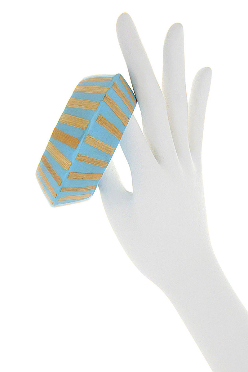 KENNETH JAY LANE Turquoise Wooden Zebra Bracelet