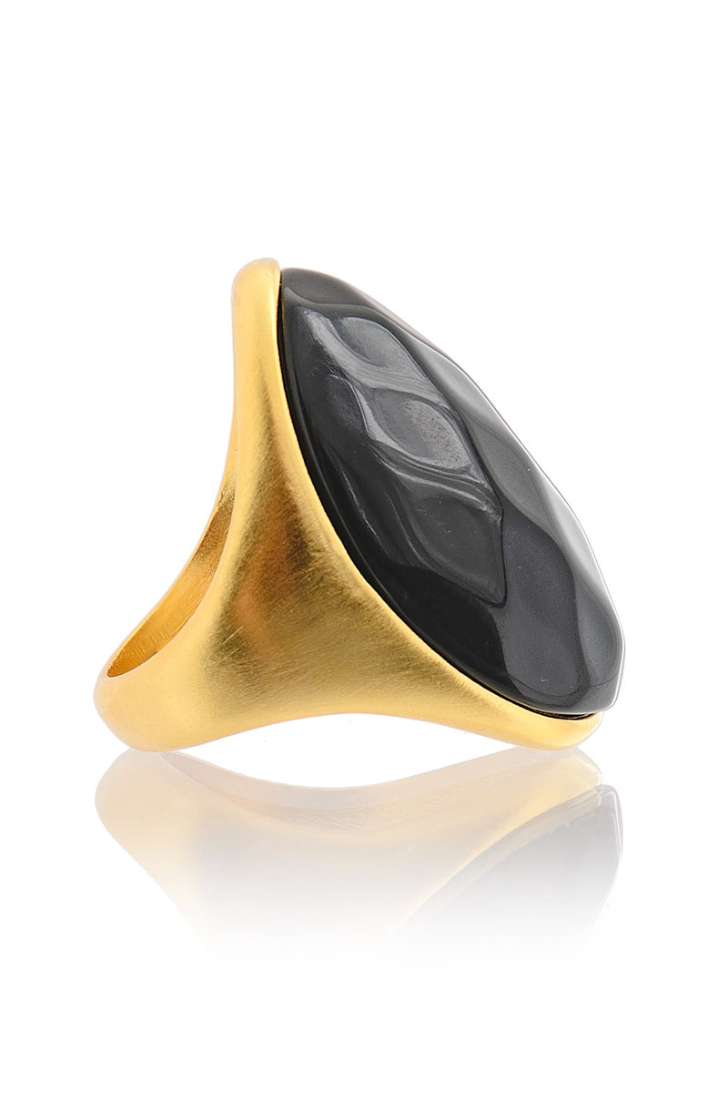 KENNETH JAY LANE VIDA Black Bold Ring