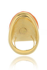 KENNETH JAY LANE VIDA Orange Bold Ring