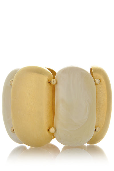 KENNETH JAY LANE WHITE AGATE Stretch Bracelet