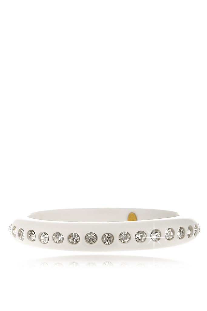 KENNETH JAY LANE WHITE Resin Crystal Bangle