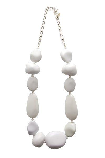 KENNETH JAY LANE WHITE STONES Long Necklace