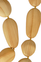 KENNETH JAY LANE WOODEN Stone Necklace