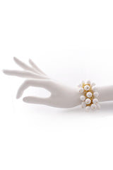 KENNETH JAY LANE White Cluster Beads Bracelet