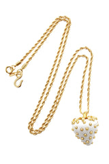 KENNETH JAY LANE White Stawberry Pendant