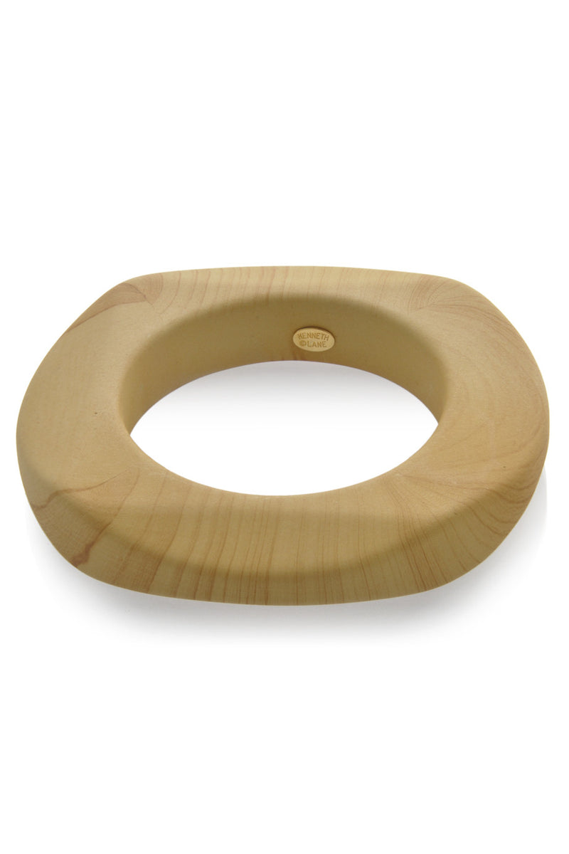 KENNETH JAY LANE ZAHIRA Wooden Round Bangle