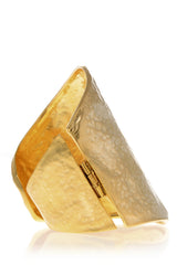 KENNETH JAY LANE YVAINE Hammered Brass Cuff