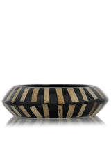 KENNETH JAY LANE ZEBRA Black Resin Bracelet