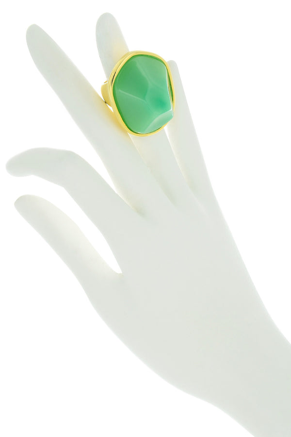 KENNETH JAY LANE ZELDA Mint Resin Ring