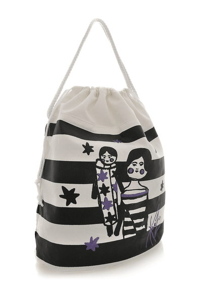 KENZO GIRLY STRIPED Drawstring Bag – PRET-A-BEAUTE.COM 647449eda3b50