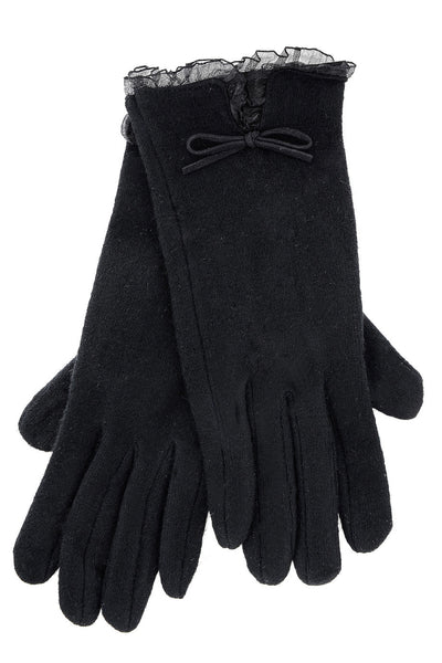 AVICE Black Wool Women Gloves