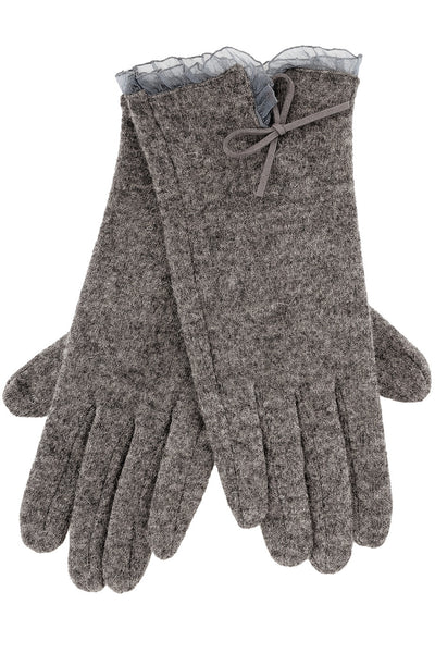AVICE Grey Wool Women Gloves