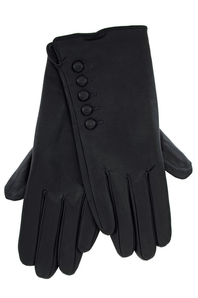 DOLORES Black Eco-Leather Women Gloves