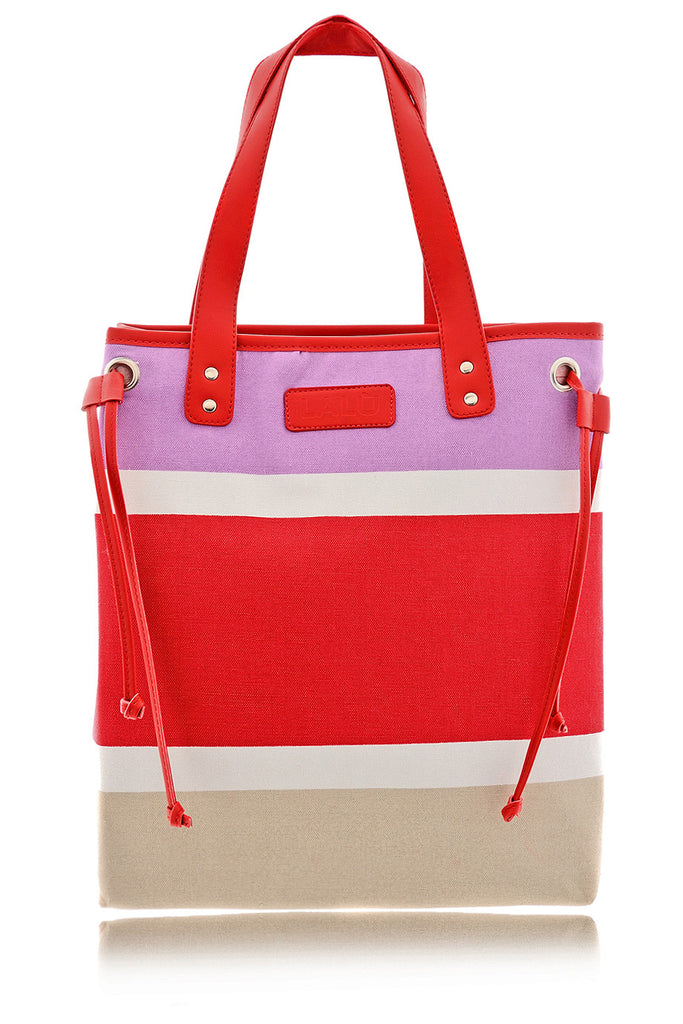 LARINE Red Color Block Shoulder Bag
