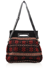 MERILLY Black Woven Bag