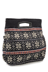 MERILLY Grey Woven Bag