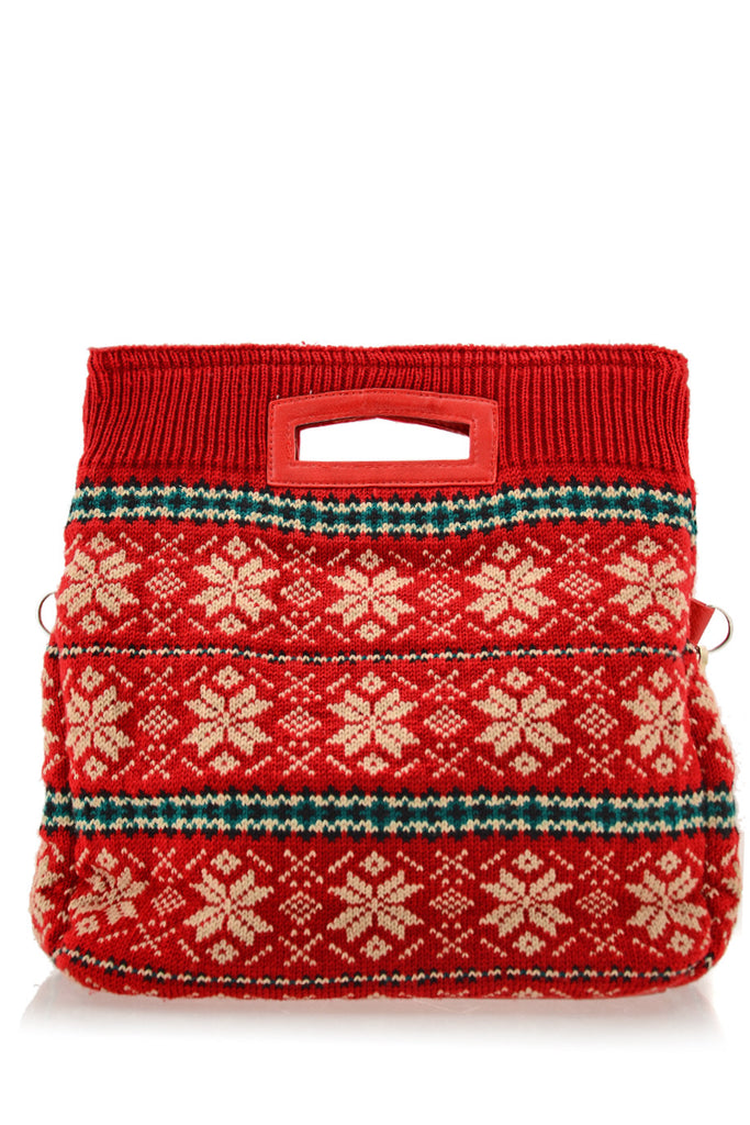 MERILLY Red Woven Bag