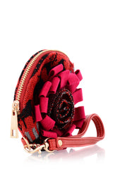MILENE Red Rose Keychain Pochette Wallet