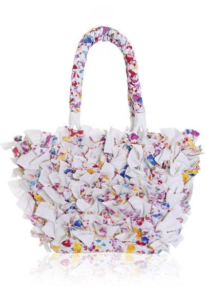 ROSEBAY Straw Canvas Bag