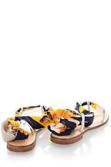 VICKY Printed Ribbon Sandals