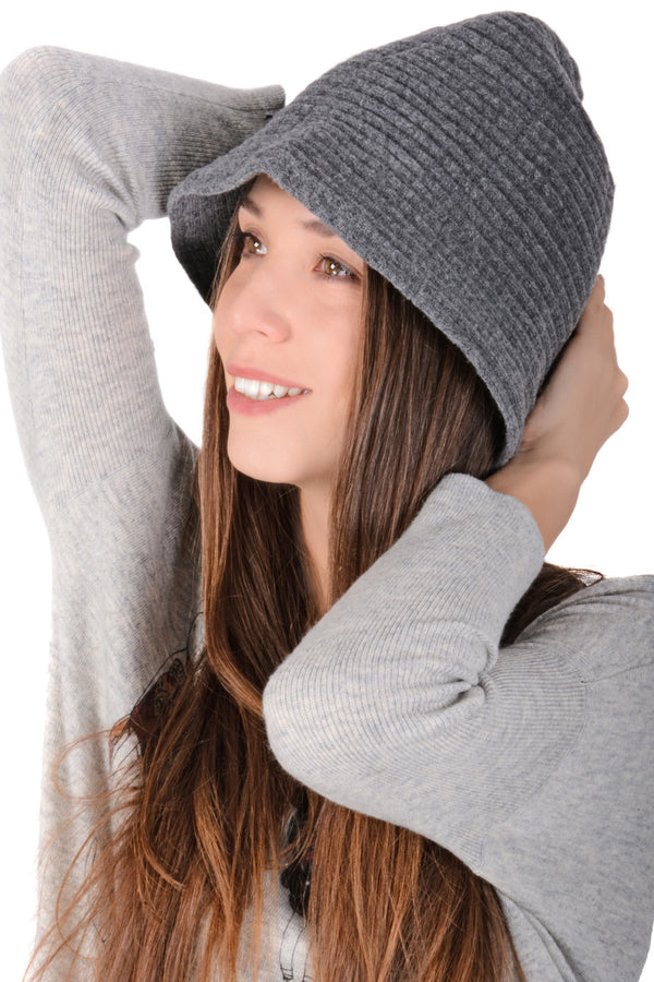 AUSTRIA Grey Wool Cloche Hat