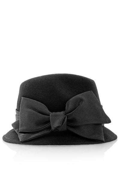 BLANCHE Black Evening Cloche Hat