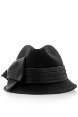 BLANCHE Black Cloche Hat