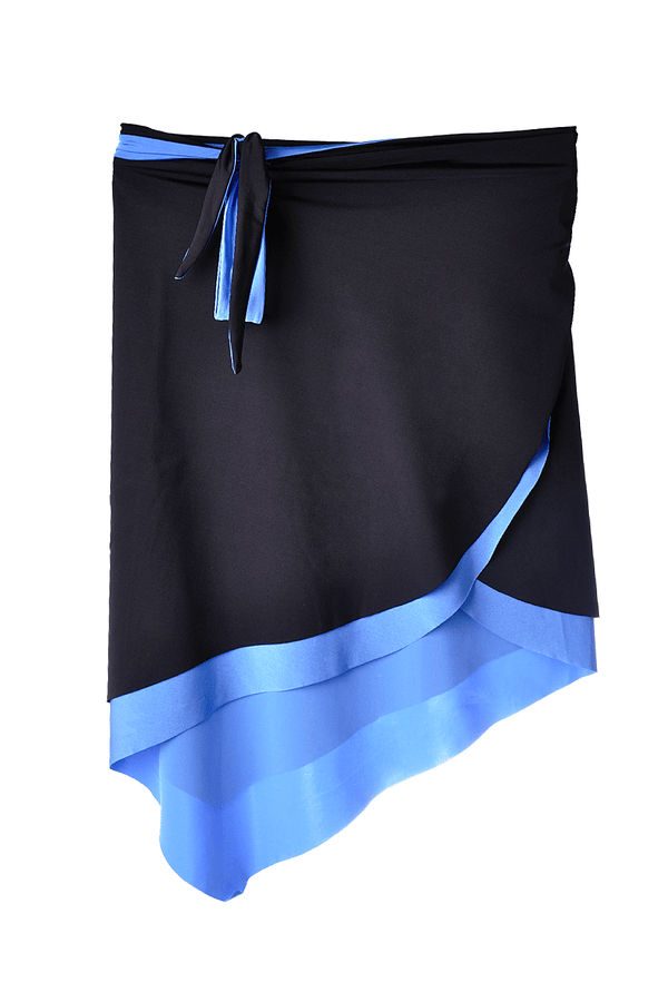 Black and Blue Double Sided Beach Skirt