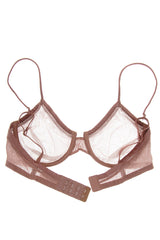 MELANIE Rosy Brown Sheer Bra