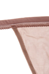 MELANIE Rosy Brown Sheer Thong