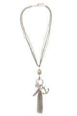 LK DESIGNS CORAL LEGEND Long Necklace
