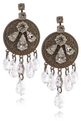 LK DESIGNS AMELIA Sarrated Drops Earrings