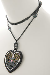 LK DESIGNS LOVE ME Multi Colored Pendant