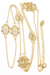 LK DESIGNS ADELLE Gold Crystal Necklace