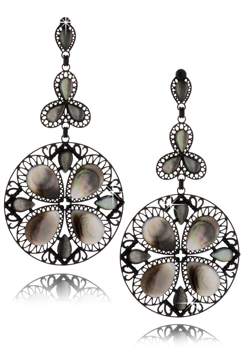 LK DESIGNS ALINE Mother of Pearl Earrings