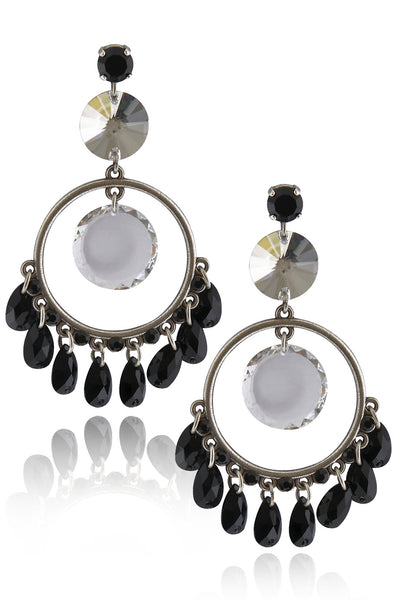 LK DESIGNS Black Drop Earrings