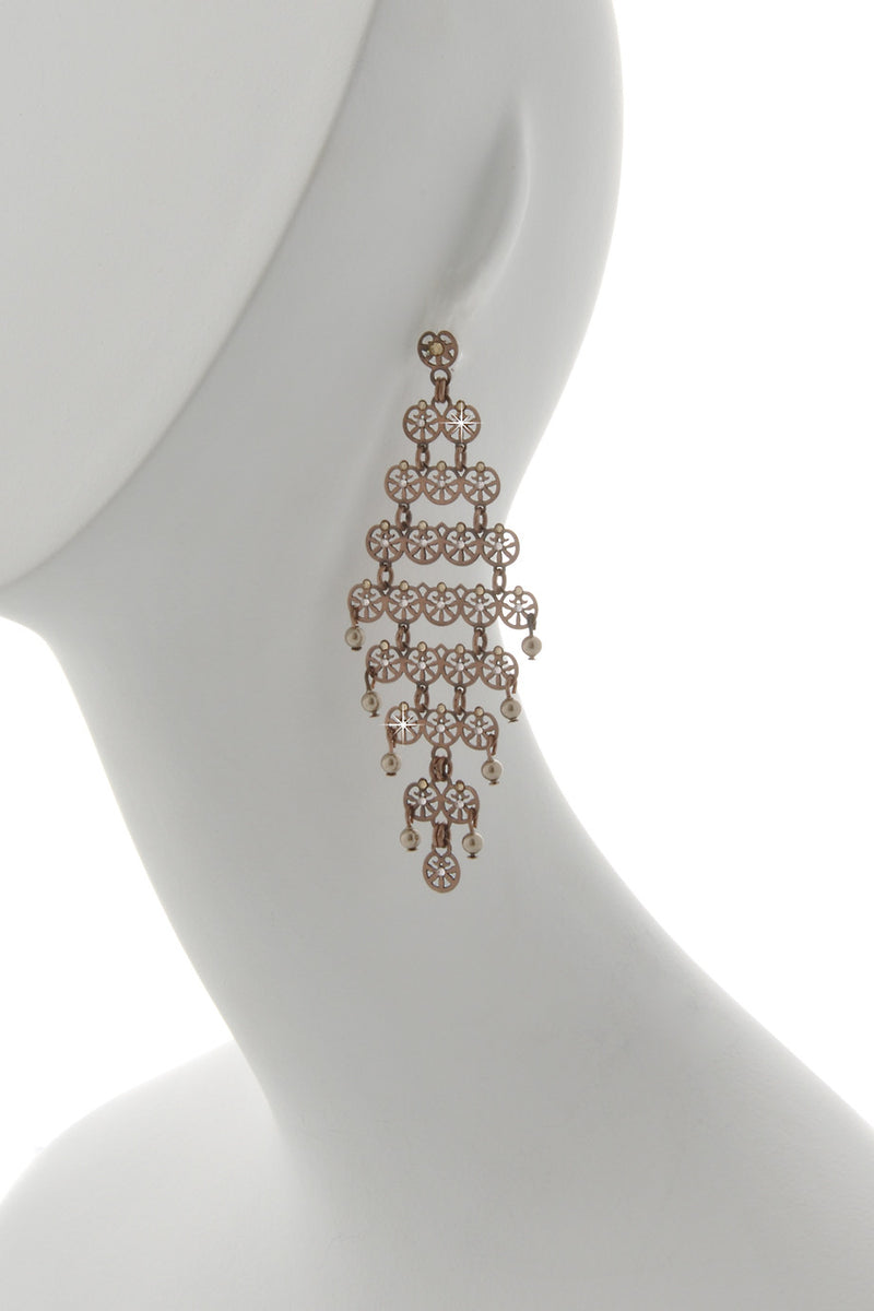 LK DESIGNS Bronze Chandelier Earrings